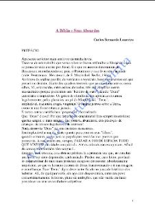 A Bíblia e Seus Absurdos (Carlos Bernardo Loureiro) pdf