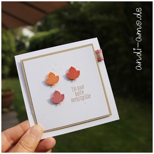 Mini Karte Bunte Herbstgrüße Stampin Up