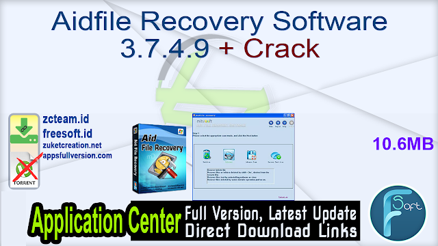 Aidfile Recovery Software 3.7.4.9 + Crack