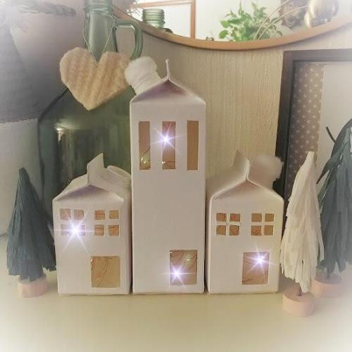 DIY Milk Carton Christmas Village