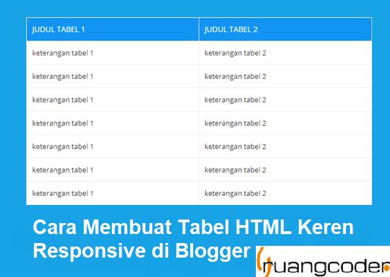 Cara Membuat Tabel HTML Keren Responsive di Blogger