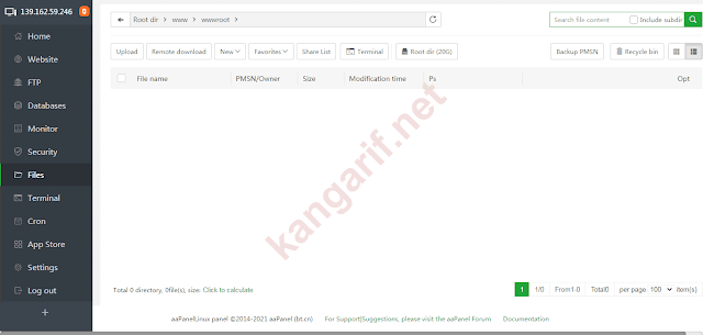 file manager aapanel