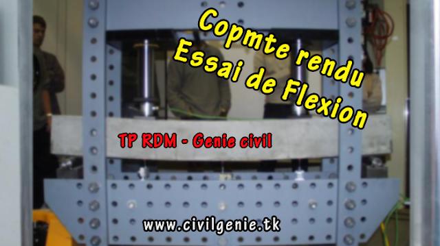Essai de Flexion compte rendu TP RDM génie civil PDF
