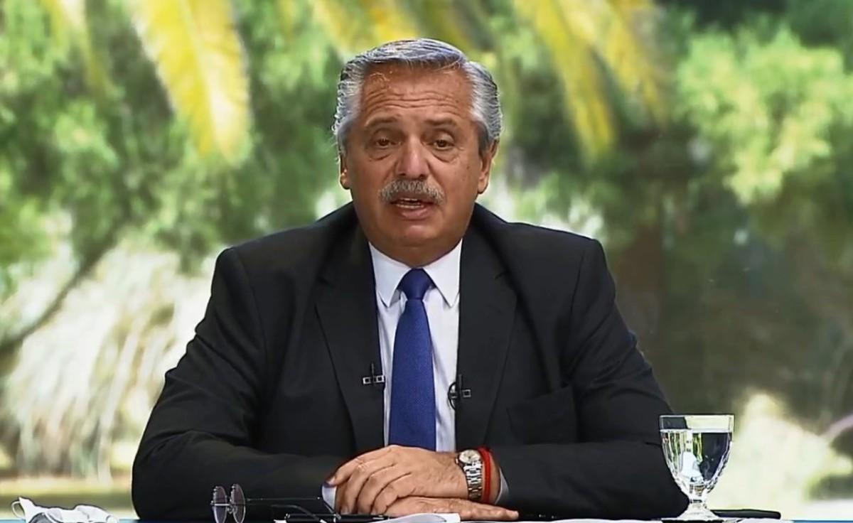"""Coronavirus en Argentina: """"El riesgo de que todo vuelva a paralizarse existe"""", aseguró el presidente Alberto Fernández"""