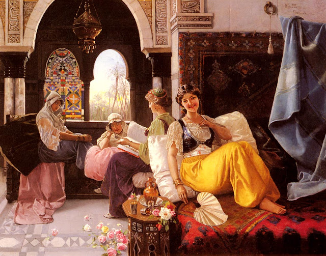 spanish painter take on ottoman harem