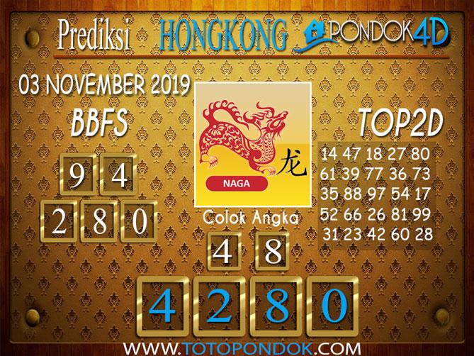 Prediksi Togel HONGKONG PONDOK4D 03 NOVEMBER 2019
