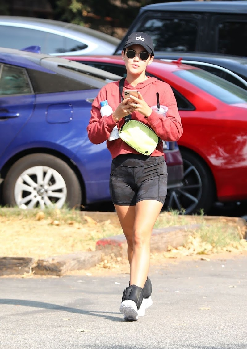 Lucy Hale  Hiking in Hollywood Hills 17 Sep- 2020