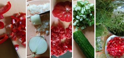 Zubereitung Schopska-Salat