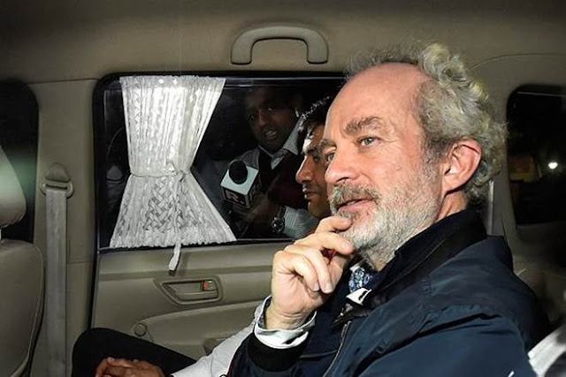 Image Attribute: Christian Michel James at Indira Gandhi Int'l Airport / Source:ANI