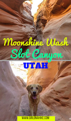 Hiking the Moonshine Wash Slot Canyon, Moonshine Wash San Rafael Swell, Utah Slot Canyons