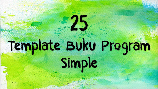 25 Template Buku Program Simple