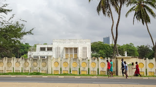 Palais in Lome. A big building