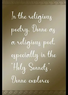 Donne as a religious poet,