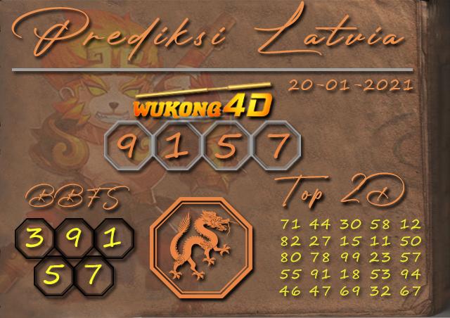 PREDIKSI TOGEL LATVIA WUKONG4D 20 JANUARY 2020