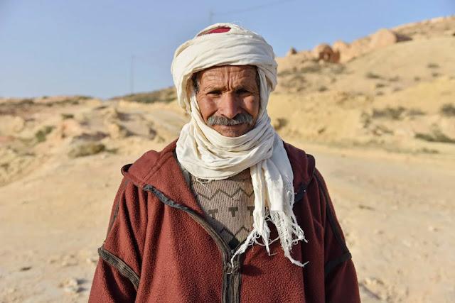 رجل كبير في السن في تونس