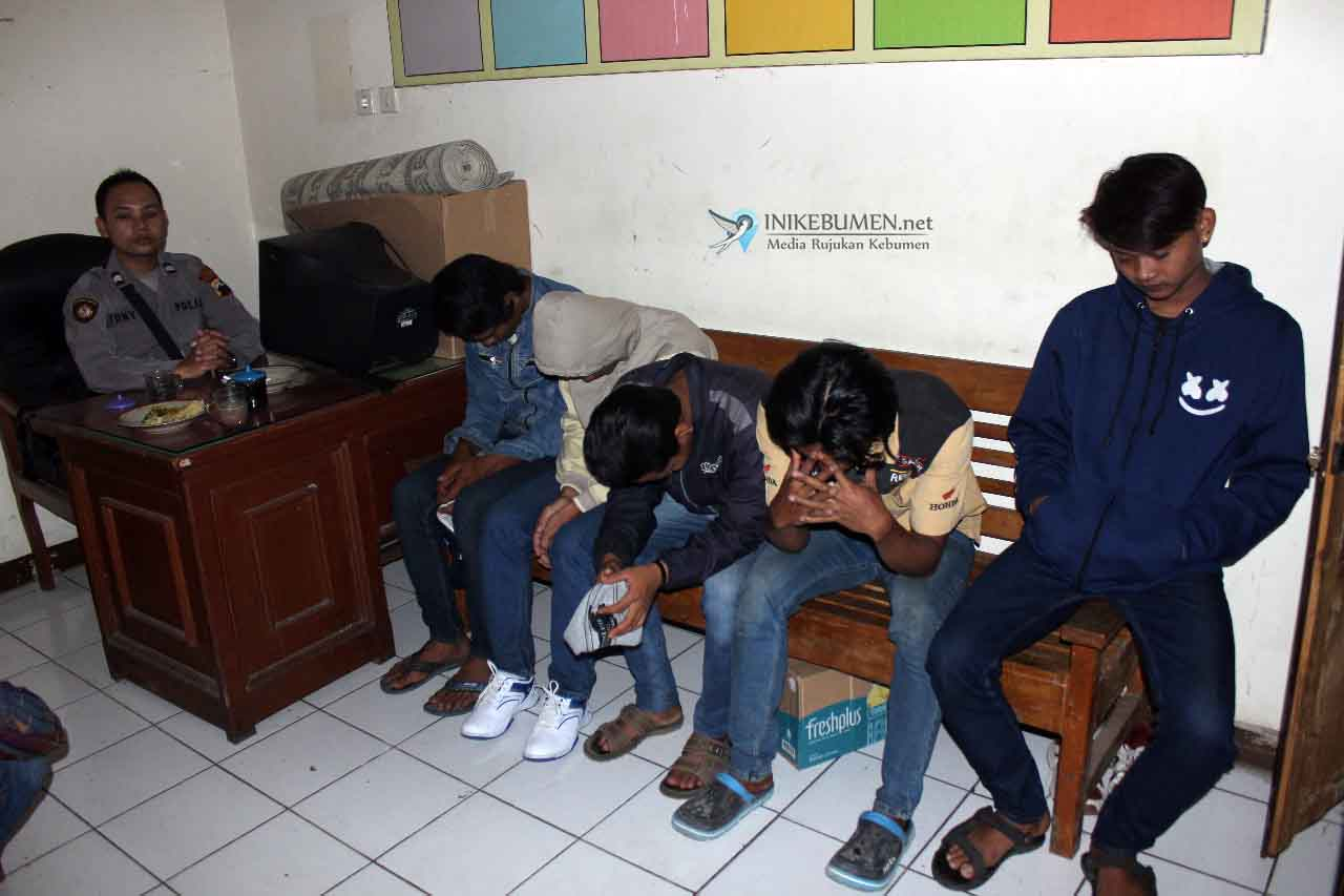 Pesta Cibot di Alun Alun Karanganyar, Sepuluh Pemuda Diangkut ke Polres Kebumen