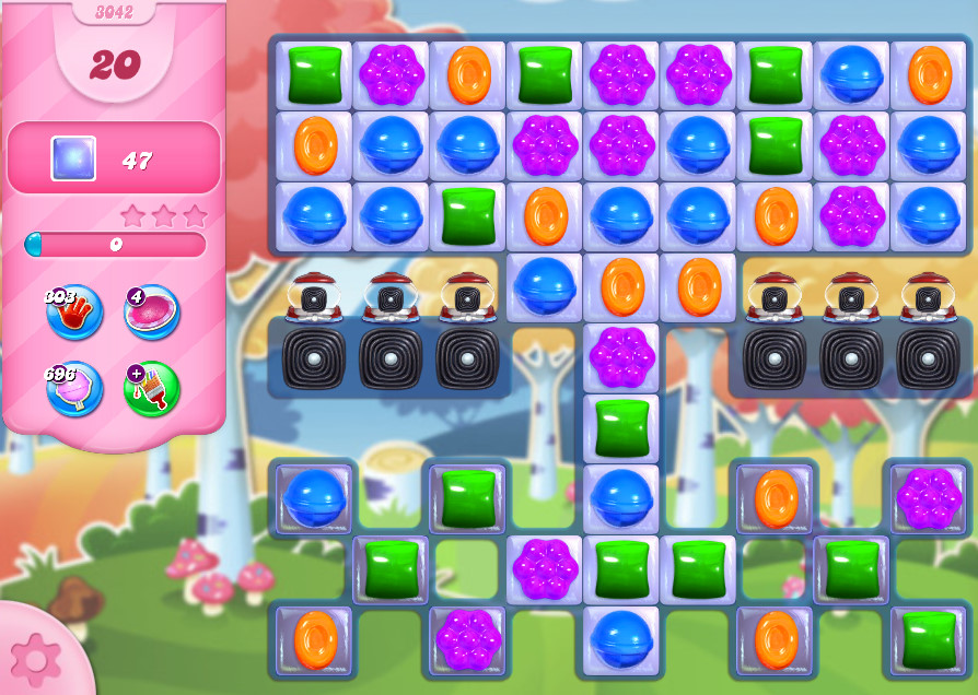 Candy Crush Saga level 3042