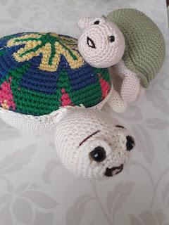 örgü oyuncak kaplumbağa yapımı