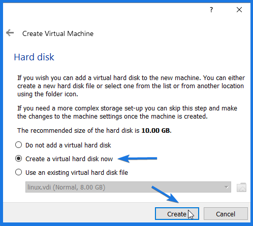 Ubuntu Virtual harddrive