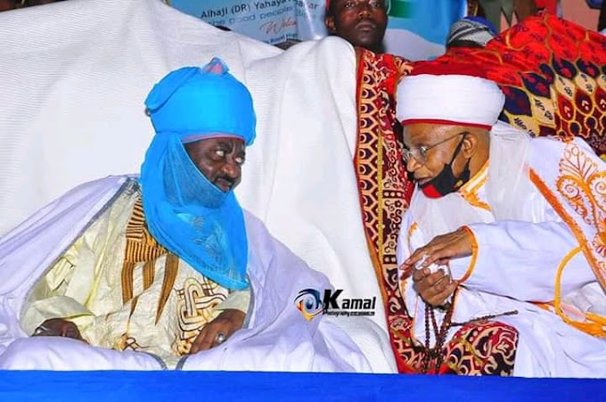 Bida Emir Alhaji yahaya Abubakar welcome Emir of kano Alhaji Aminu Ado Bayaro: reason why i trekk from inside town to emir palace said by Emir of Kano