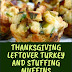 Thanksgiving Leftover Turkey and Stuffing Muffins