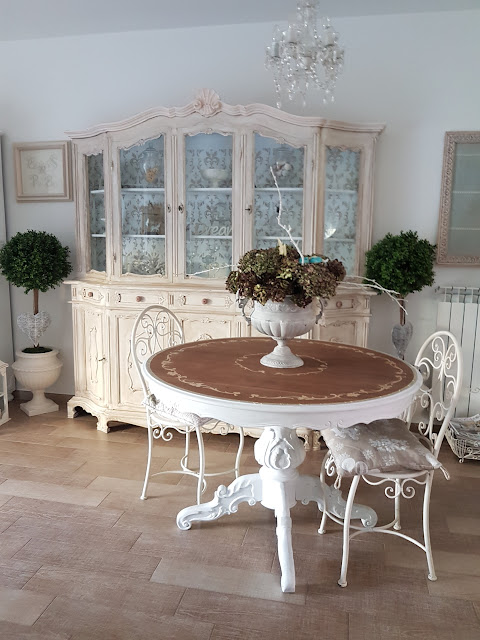 tavolo, shabby chic, legno, decora facile, casa facile, arredamento, soggiorno, chal kpaint