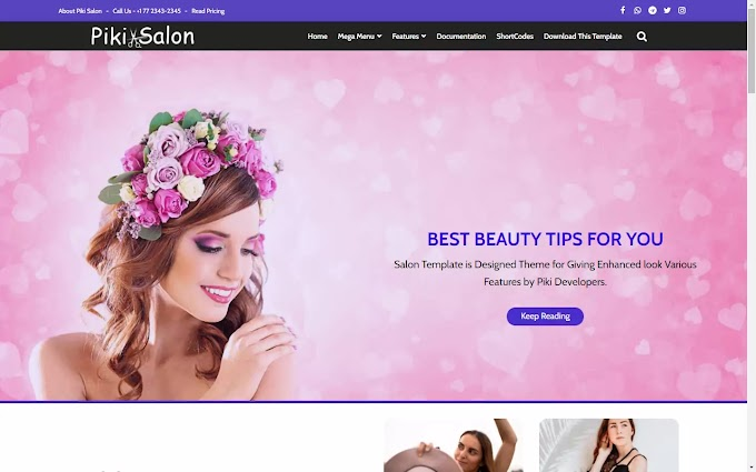 How to Download and Install Piki Salon Blogger Templates for free in 2021?