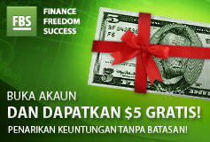 Verifikasi Bonus 5 USD FBS