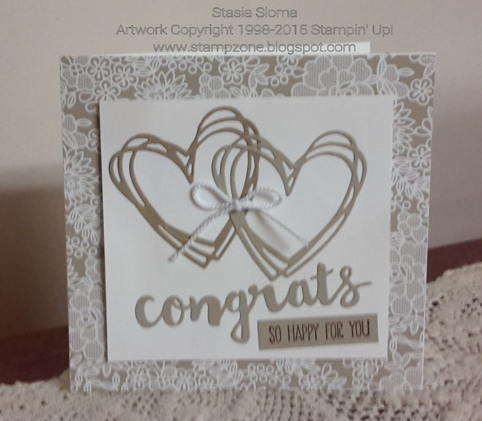 Wedding Cards Ideas To Make: Stampin' & Scrappin' With Stasia: Congrats
