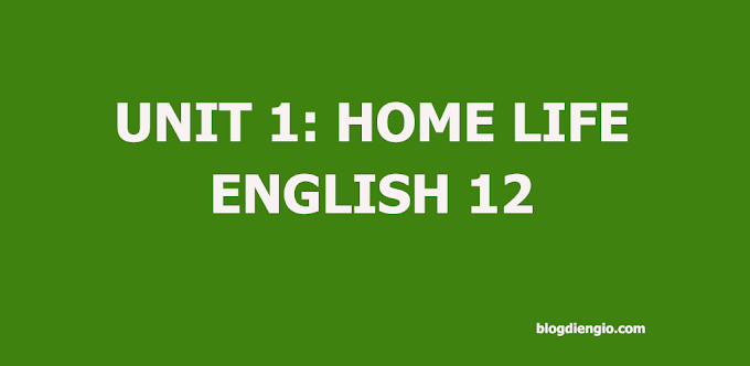 Unit 1: Home life - Exercise