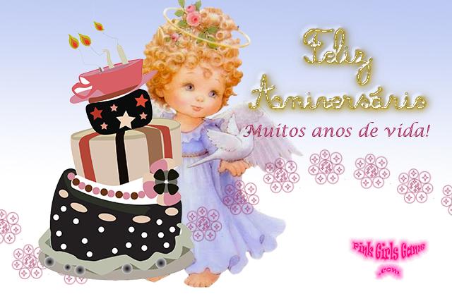 Famosos Cartão virtual de Mensagem de Feliz aniversário para afilhada. TK45