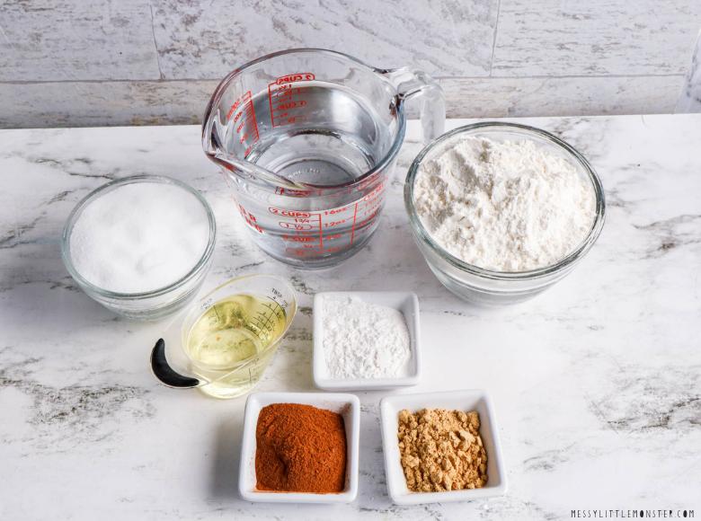 Gingerbread playdough ingredients