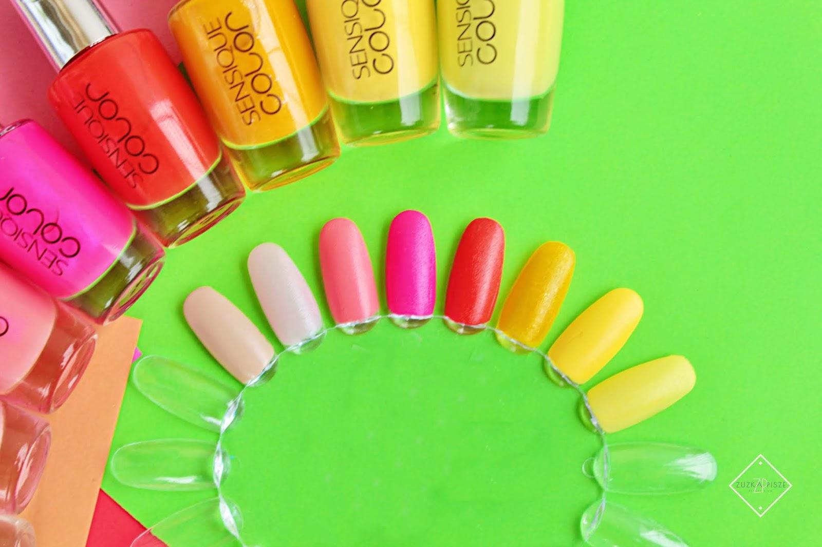 SENSIQUE COLOR - kolorowe lakiery do paznokci