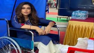 Aakansha Singh on the set of May Day