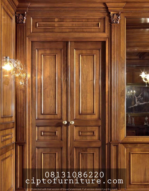 model pintu ukiran minimalis cantik bandung