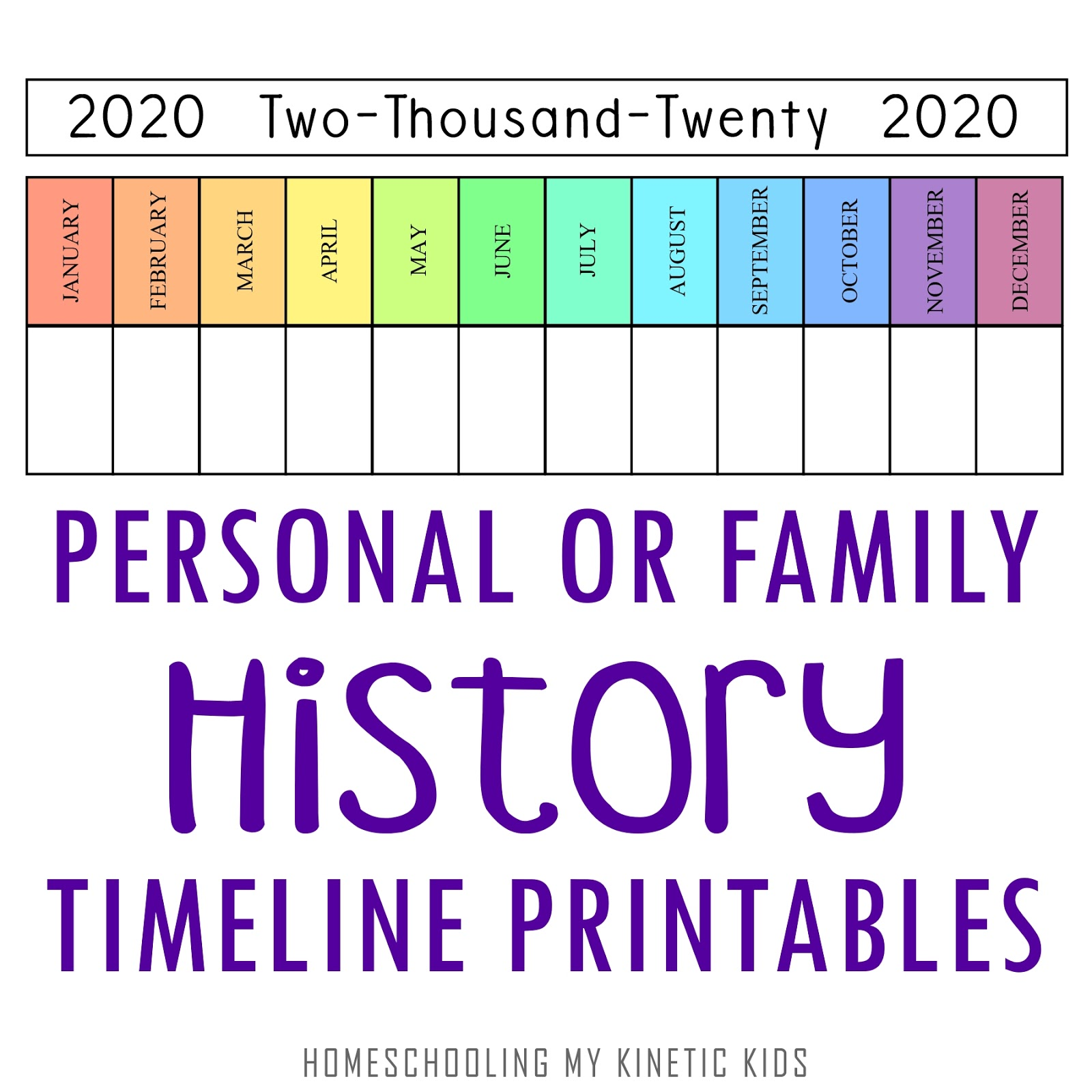 Personal Or Family Timeline Printables