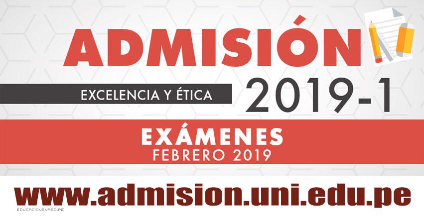 UNI: Examen de Admisión se realizará este 11, 13 y 15 de febrero en la Universidad Nacional de Ingeniería [Local y Aulas Examen 2019-I] www.uni.edu.pe