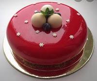 Cake Decorated with Glaze