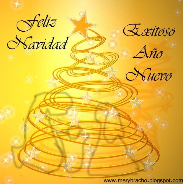imagen de arbol de navidad y saludo de feliz navidad año nuevo