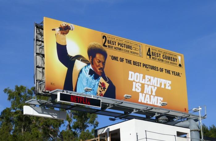 Dolemite Is My Name Golden Globe nominee billboard