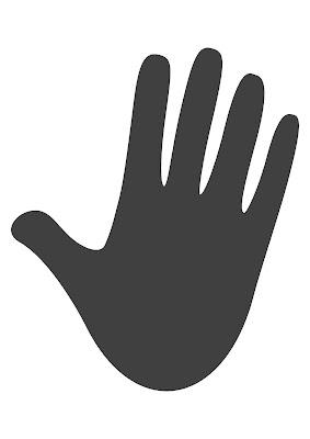 Amarelinha de mãos e pés para imprimir