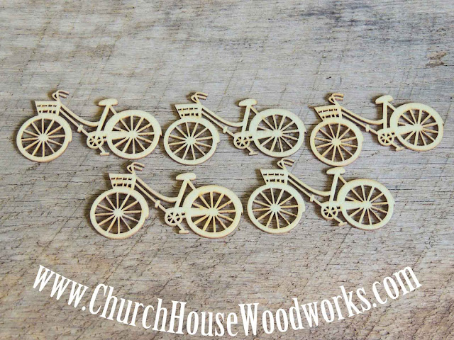 Wood Bikes To make crafts with or use to decorate at rustic weddings.