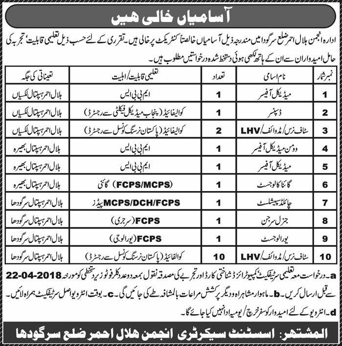 Anjaman Hilal Ahmer Jobs in Sargodha
