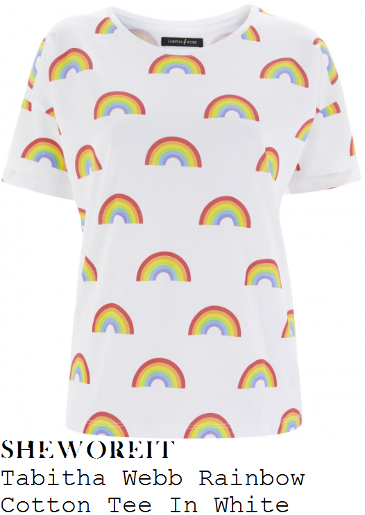 fearne-cotton-tabitha-webb-white-and-multicoloured-rainbow-print-t-shirt
