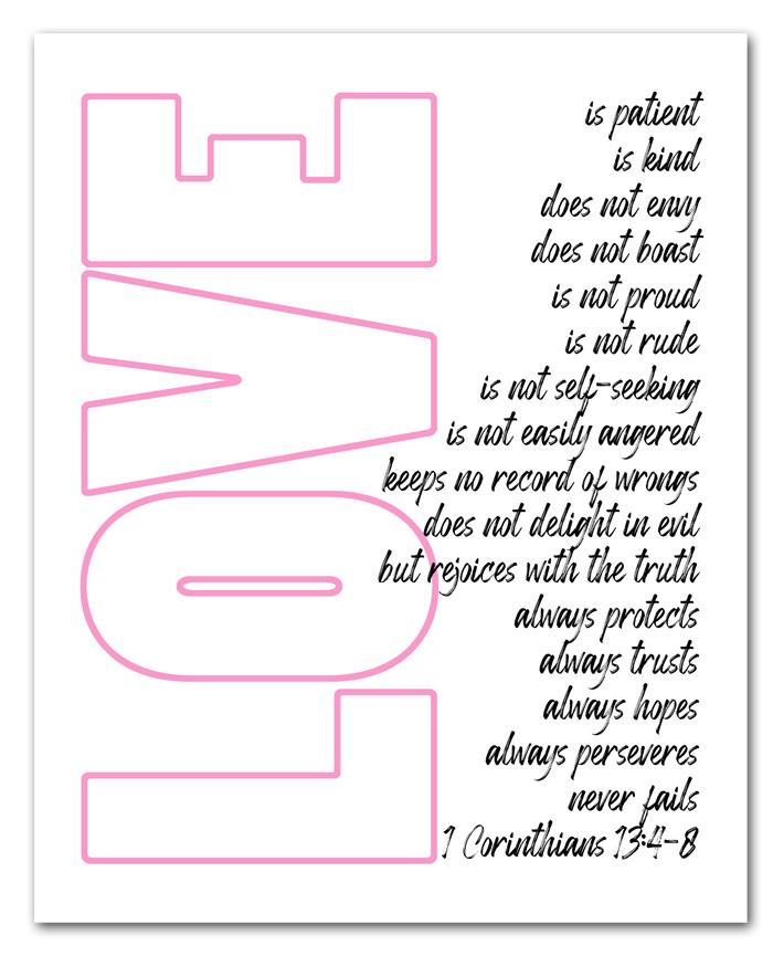 Love is Patient Printable