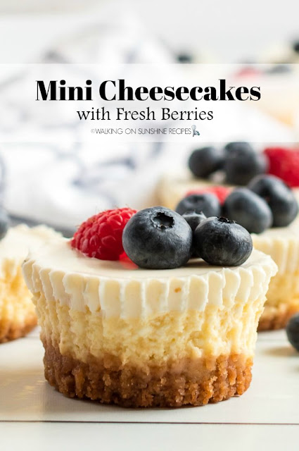 Mini Cheesecakes with Fresh Berries Recipe