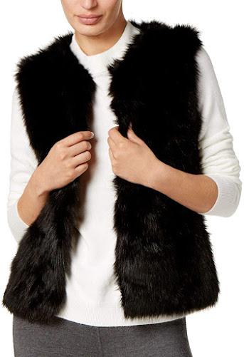 Best Women's Black Faux Fur Vests