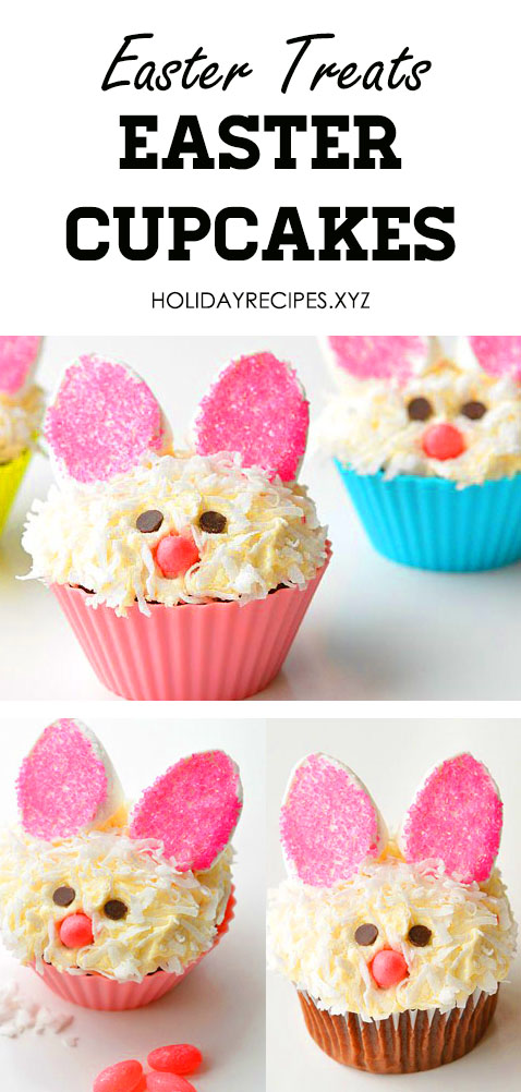 These Easter treats are easter cupcakes, good for cupcake stand or holder and have cute decoration. Sounds like mini wedding cakes. Easy easter dessert that look like bunny cake and fun for Easter cupcakes ideas, But best too for Wedding Cupcakes! #eastercupcakes #cupcakestand #weddingcupcakes #easterbaking