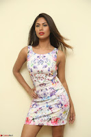 Nishi Ganda stunning cute in Flower Print short dress at Tick Tack Movie Press Meet March 2017 065.JPG