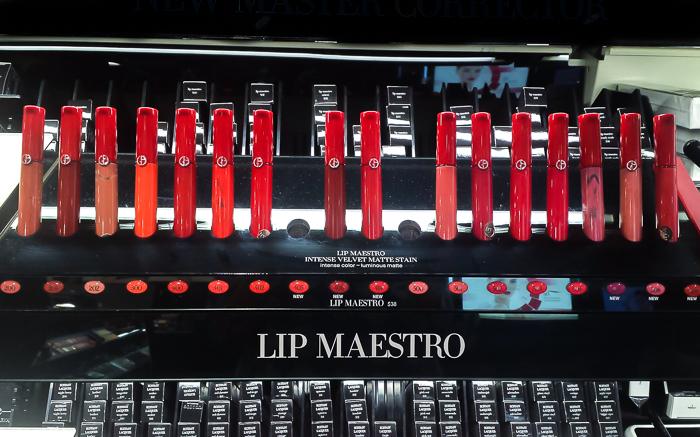 Giorgio Armani Lip Maestro Intense Velvet Stain - Swatches
